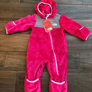 NWT The North Face baby girl f one piece snowsuit